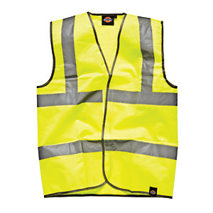 4TRADE High Visibility Waistcoat Yellow