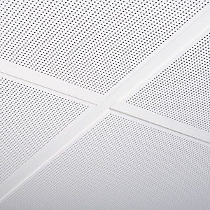 Armstrong Metal-lay in     Microlook 8 Micrperforated Ceiling Tile with Black Acoustic Fleece Ral 9010 600 x 600 x 8mm 9324m