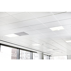 Sektor Forte Metal Plain Lay in       Ceiling Tile 600 x 600 x 0.5mm GLF019N00