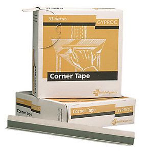 British Gypsum Gyproc Metal Reinforced Corner Tape 30m