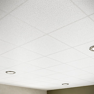 Sektor Spintone 15mm Square Edge Fire Rated Ceiling Tile 600mm x 600mm Box of 12