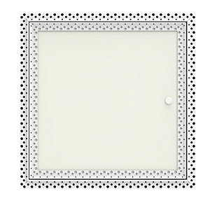 1 Hour Fire Rated Beaded Frame Plasterboard Door Budget Lock 300mm x 600mm