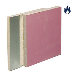 British Gypsum Gyproc Fireline Duplex Plasterboard 12.5mm Tapered Edge 2400mm x 1200mm