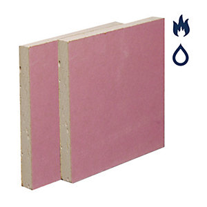 British Gypsum Gyproc Fireline Moisture Resistant Plasterboard 12.5mm Tapered Edge 3000mm x 1200mm