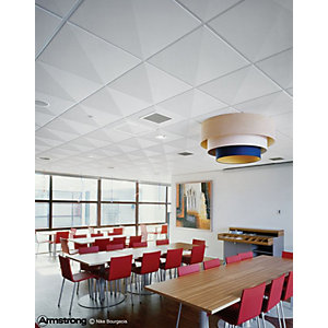 Armstrong Graphis Microlook Linear Ceiling Tile White 600 x 600 x 17mm 9220m