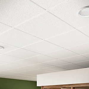 Sektor Sahara Perforated Square Edge Ceiling Tile 1200 x 600 x 14mm SEKTOR-7133/NS
