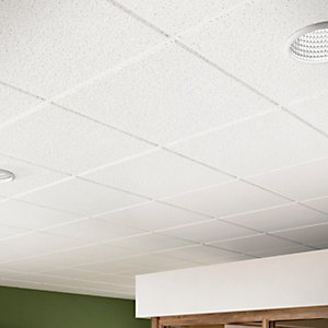 Sektor Sahara Perforated Square Edge Ceiling Tile 14mm edge x 600mm x 600mm