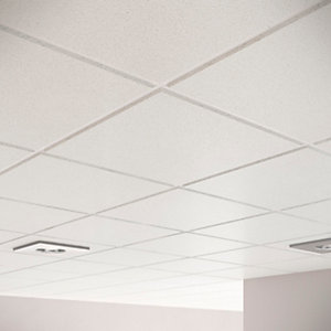 Sektor Sahara Plain Tegular Ceiling Tile 15mm 14mm edge x 600mm x 600mm