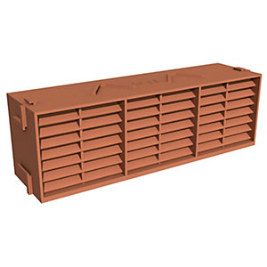 Manthorpe Combination Airbrick Terracotta 9 Inch x 3 Inch G930TR