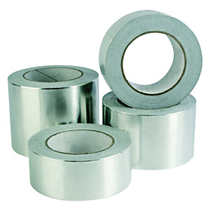Venture Reinforced Foil Tape Plain Core Silver 1524CW 75mm x 50m