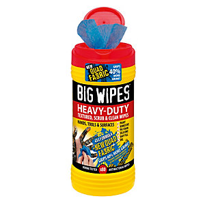 Big Wipes 4x4 Formula Heavy-Duty Textured Scrub and Clean Wipes 80 Pack