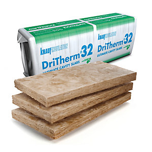 Knauf Earthwool Dritherm 32 Ultimate Cavity Insulation Slab 1200mm x 455mm