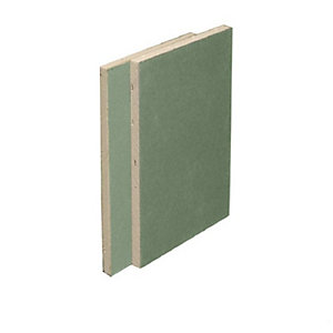 British Gypsum Gyproc Moisture Resistant 12.5mm Square Edge Plasterboard 2400mm x 1200mm