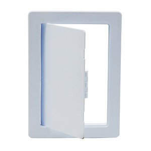 Tradeline Plastic Picture Frame Access Panel Primer White 300mm x 300mm