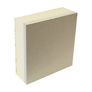 British Gypsum Gyproc ThermaLine PIR Plasterboard Tegular Edge Ivory and Pale Yellow 2400mm x 1200mm x 38mm 28492/2