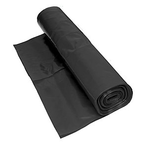 Visqueen Polythene Damp Proof Membrane Pifa Black 25m x 4m RS014036
