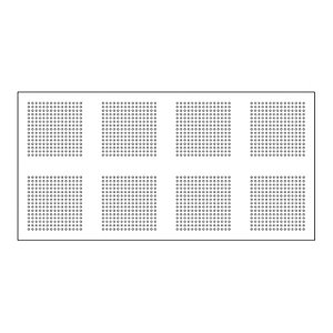 GTEC Pregybel R15 Perforated Plasterboard Number 8 12.5mm Tapered Edge 2400mm x 1200mm
